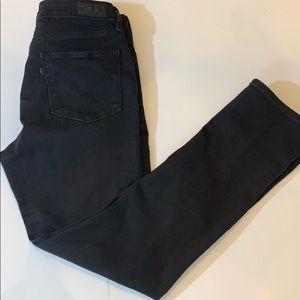 LEVI'S Mid Rise Skinny Jeans Black SZ 6